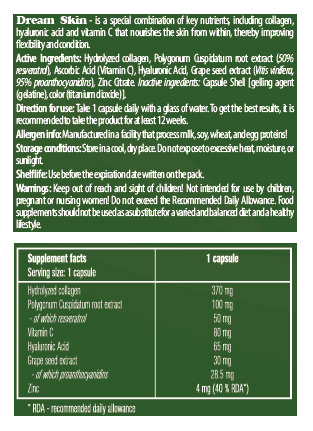 greenway dream skin nutrifacts